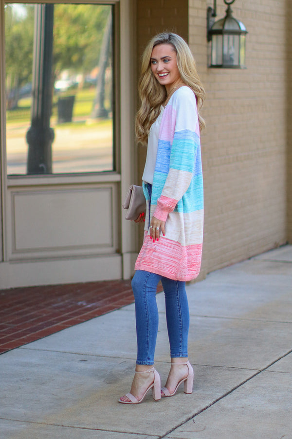 Up in the Clouds Rainbow Cardigan - Madison + Mallory