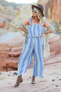 S / Navy Soaking Up the Sun Striped Set - FINAL SALE - Madison + Mallory