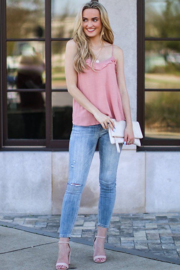 Carrigan Ruffle Tank - FINAL SALE - Madison and Mallory
