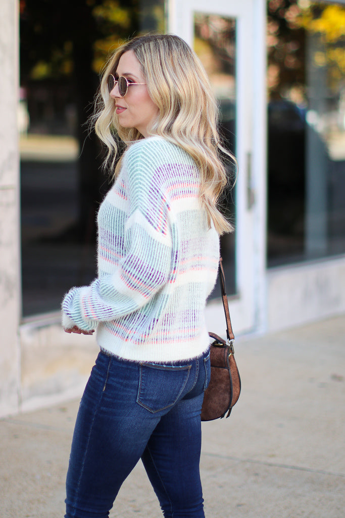 Adonis Multi Stipe Sweater - Madison + Mallory