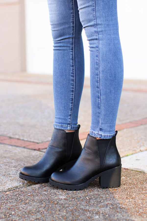 Colfax Faux Leather Boots - Madison + Mallory