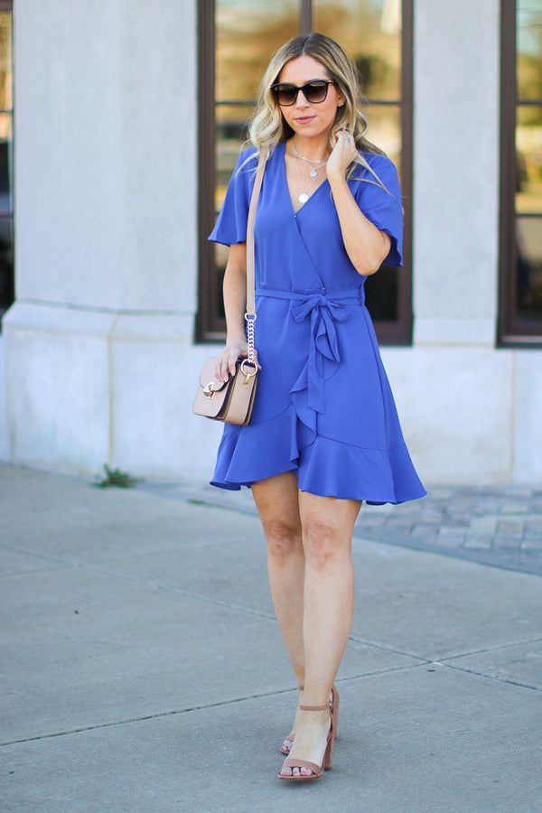 Most Likely Flounce Surplice Dress - Madison + Mallory