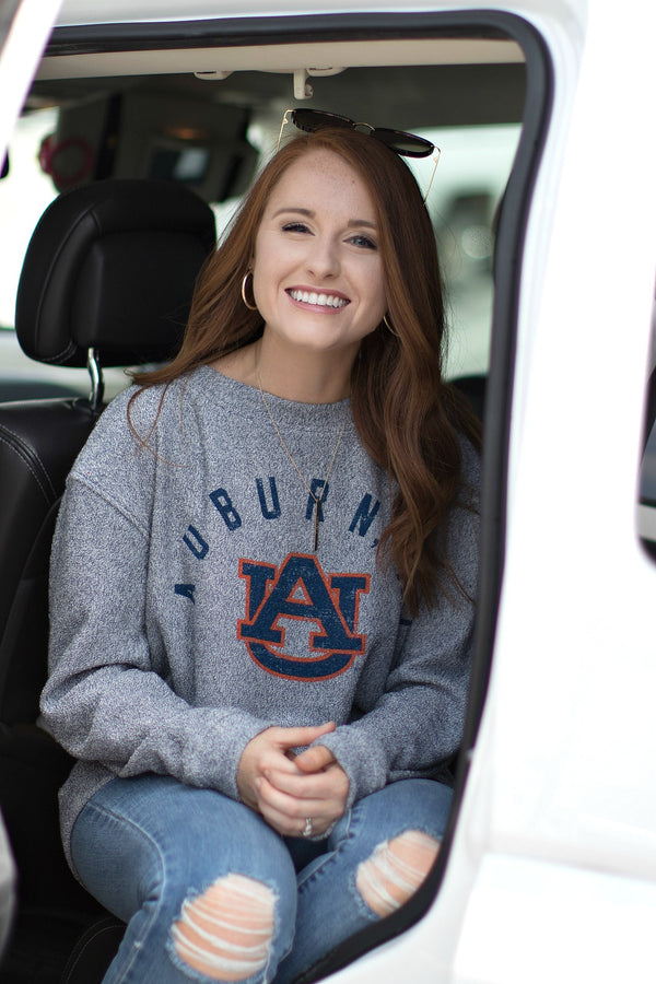 Auburn College Town Cozy Pullover | CURVE - Madison + Mallory
