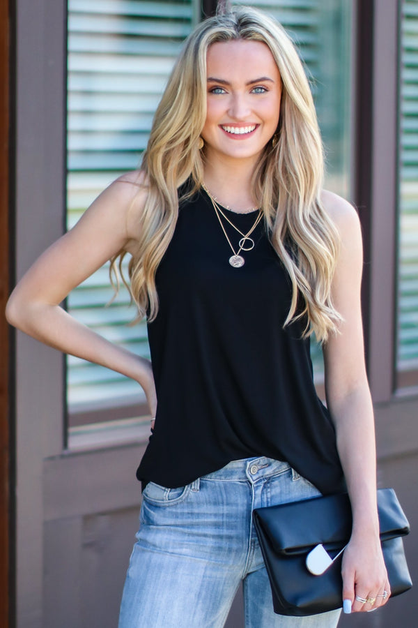 Black / S Choosing Chill Swing Tank - FINAL SALE - Madison and Mallory