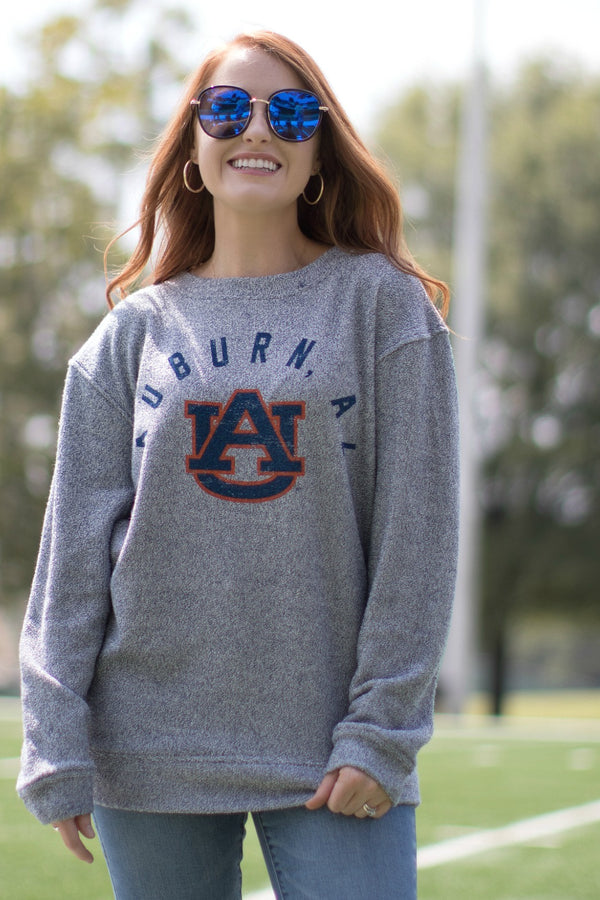 Auburn College Town Cozy Pullover | CURVE - FINAL SALE - Madison and Mallory