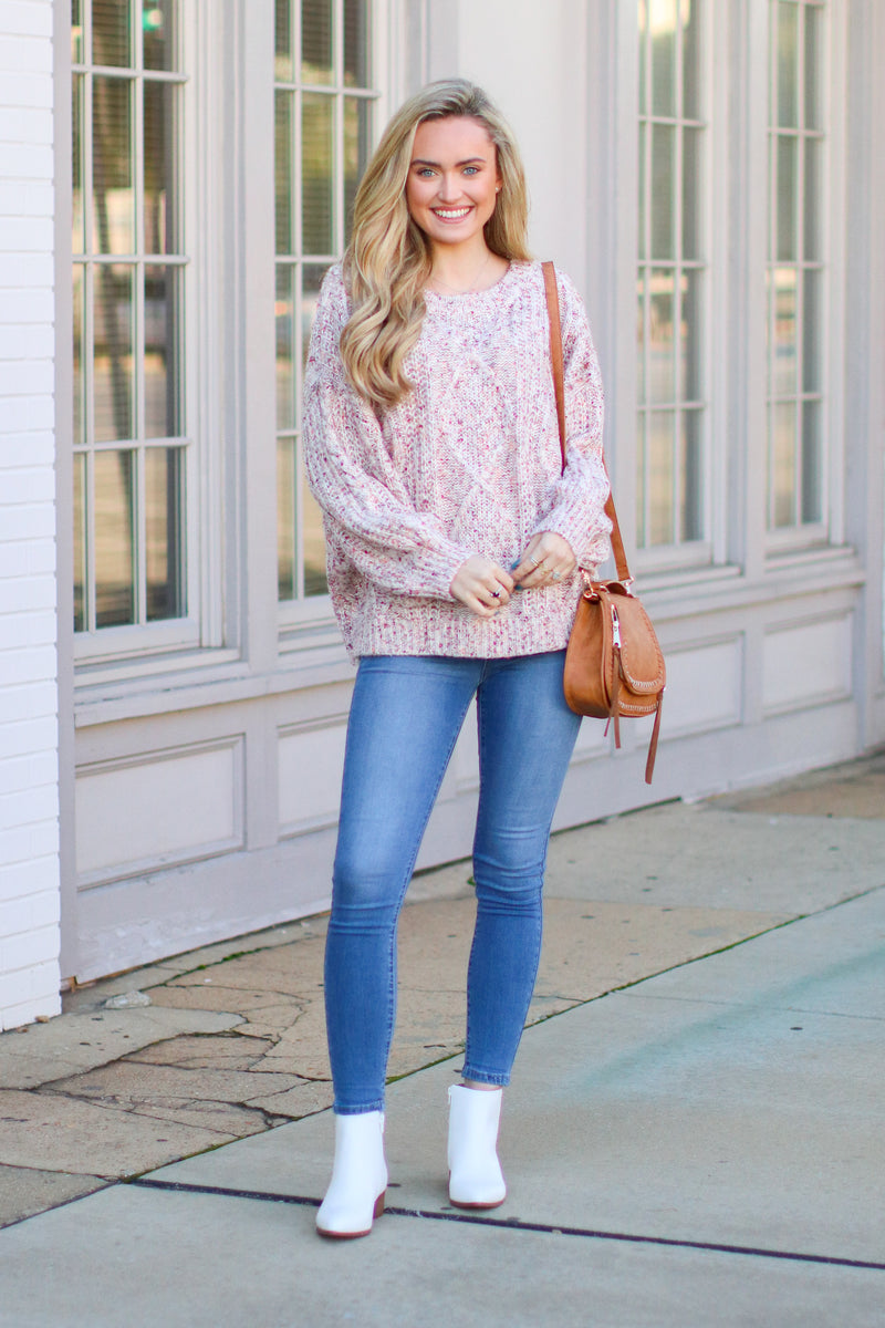 Take My Hand Cable Knit Sweater - FINAL SALE - Madison and Mallory