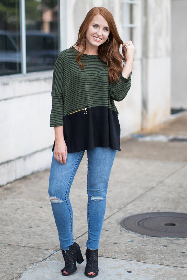 Ivy Striped Top - Madison + Mallory