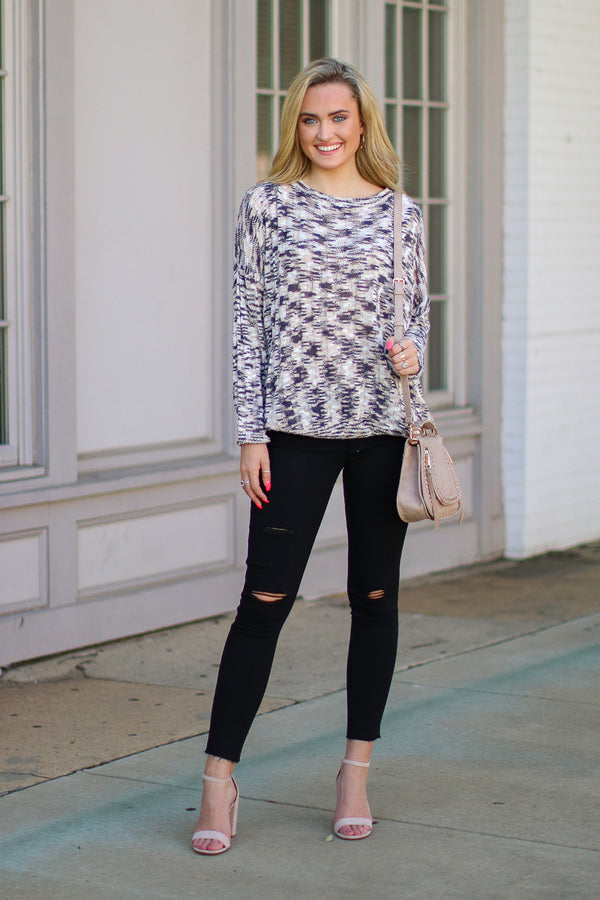 Undivided Attention Knit Sweater - FINAL SALE - Madison and Mallory