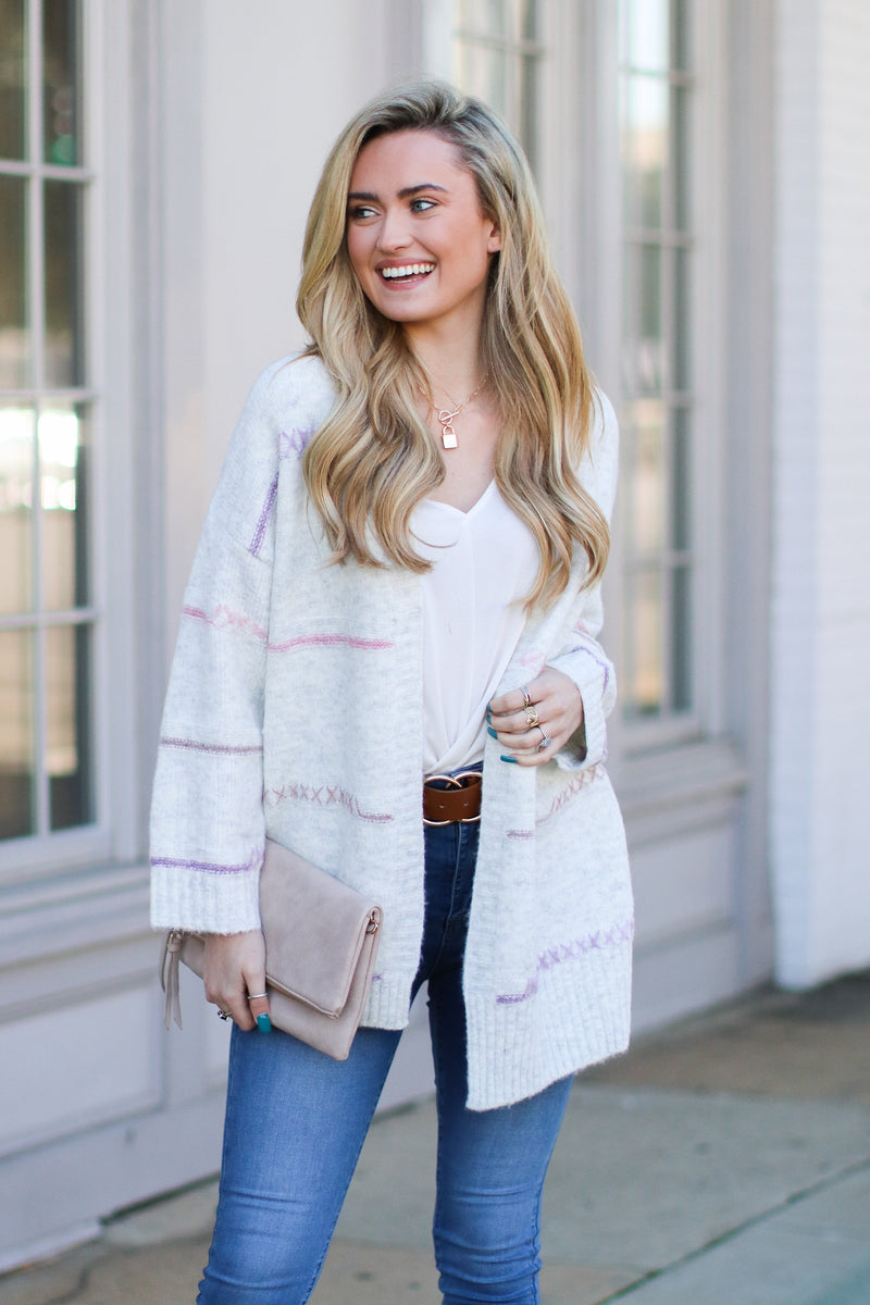 S / Heather Gray Keep Me Loved Knit Cardigan- FINAL SALE - Madison and Mallory