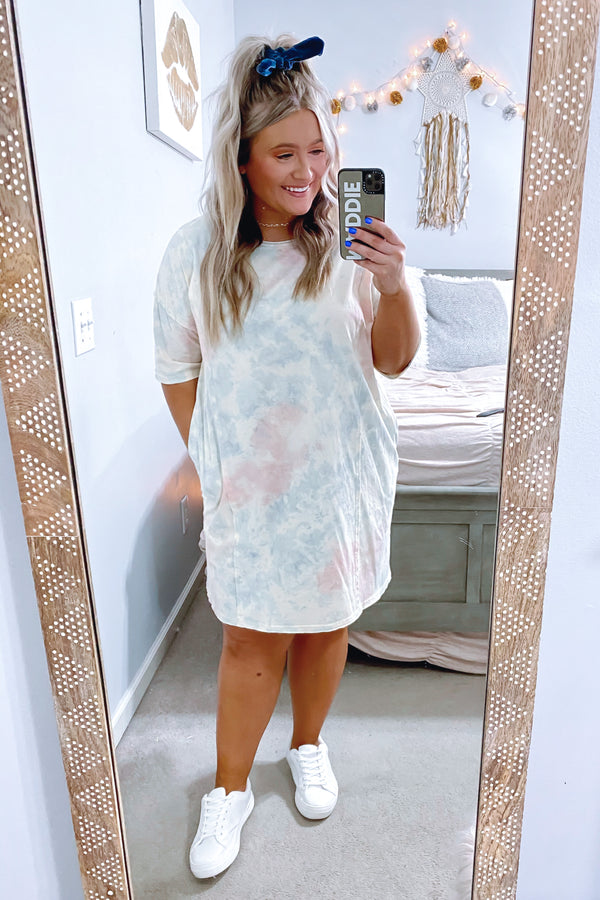 Slow Tide Tie Dye Dress - Madison and Mallory