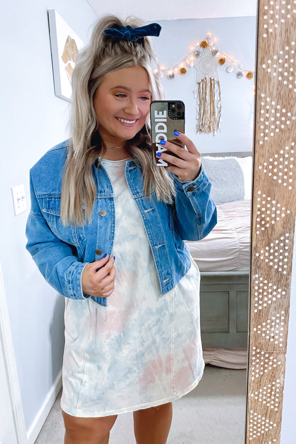 S / Blush Slow Tide Tie Dye Dress - FINAL SALE - Madison and Mallory