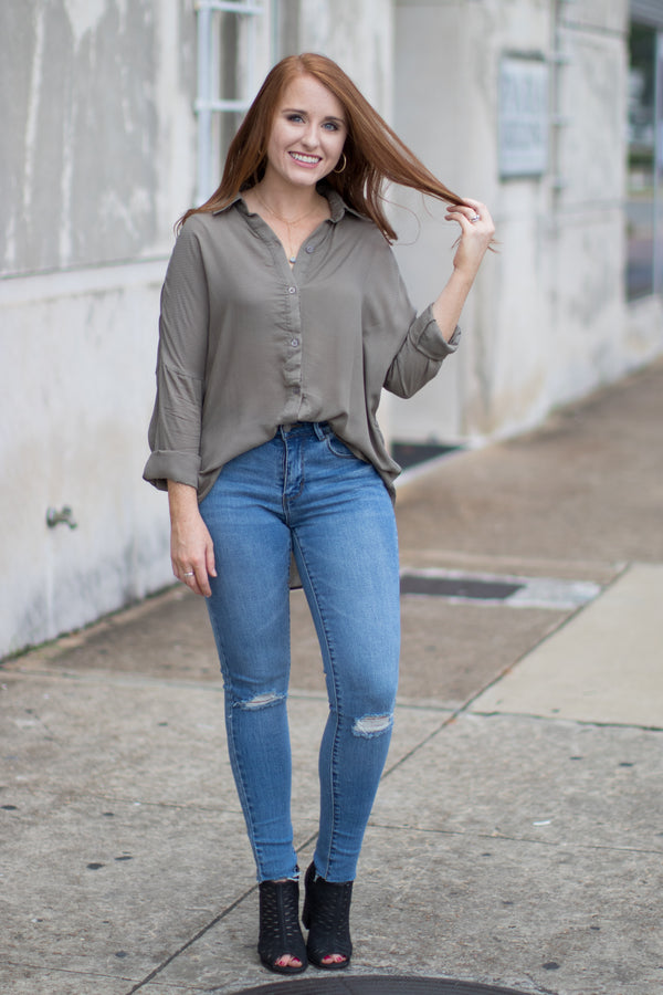 Patricia Button Down Top - Madison + Mallory