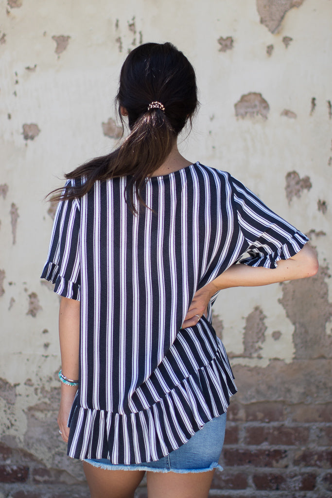 Haven Striped Top - Madison + Mallory