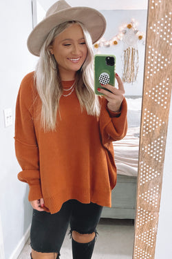 Red Clay / S Style Supply Relaxed Fit Dolman Sweater - Madison and Mallory