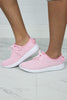 5 / Pink Pink Mesh Detail Lace Up Sneakers - Madison + Mallory