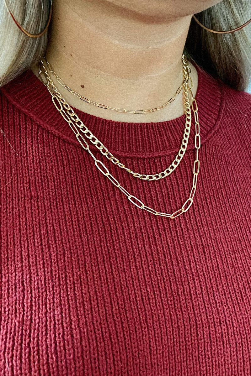 Forever Linked Layered Chain Necklace - Madison and Mallory