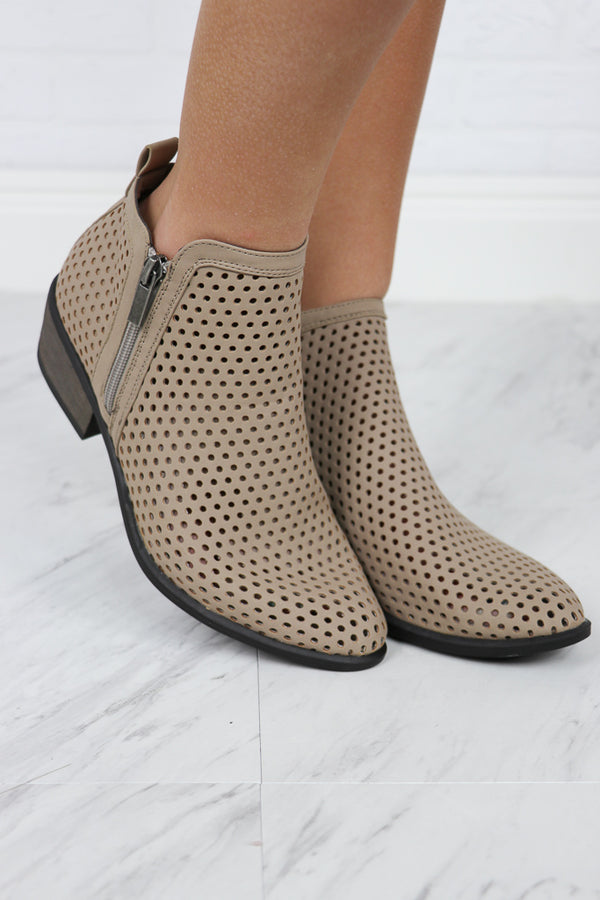 Laser Cut Booties - Madison + Mallory