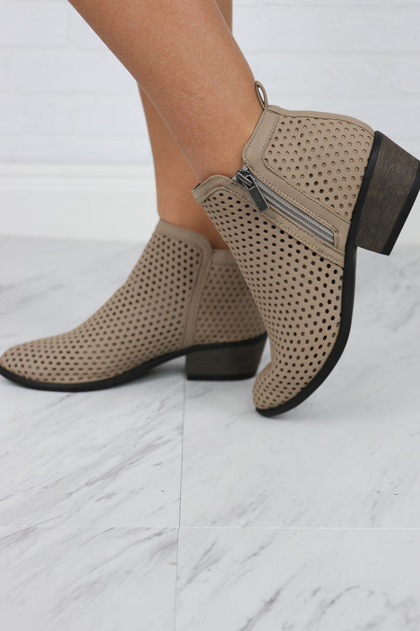 Laser Cut Booties - FINAL SALE - Madison + Mallory