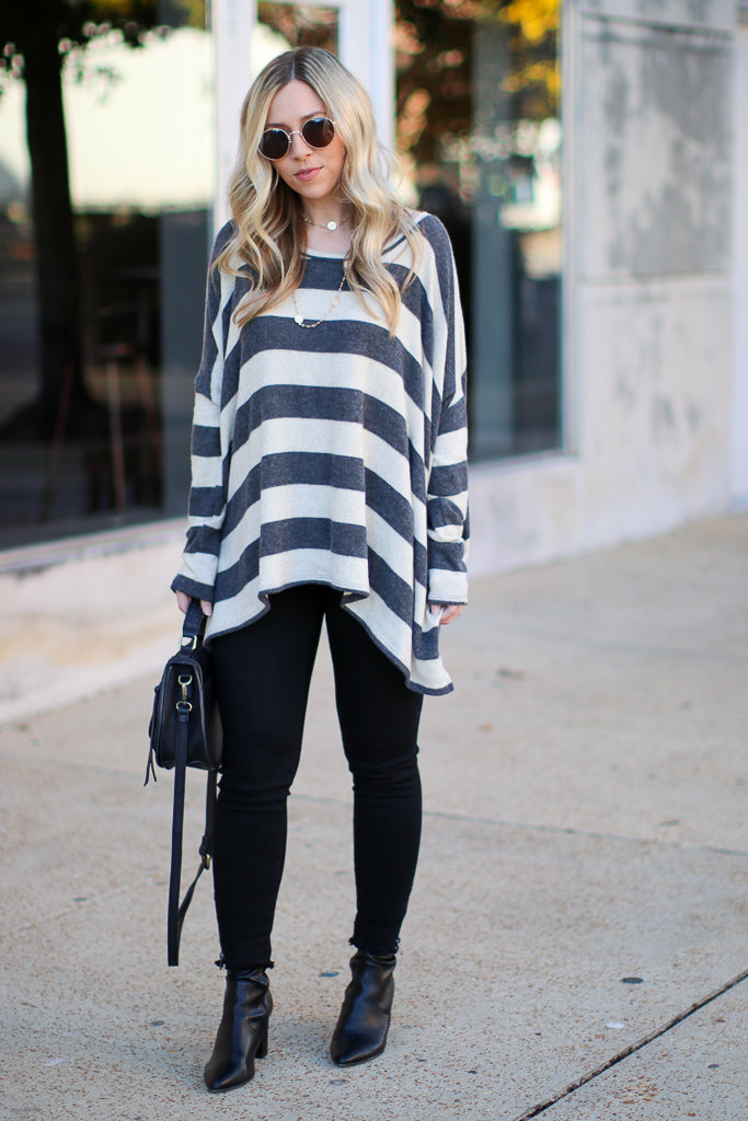 Clear Your Mind Striped Tunic - Madison + Mallory