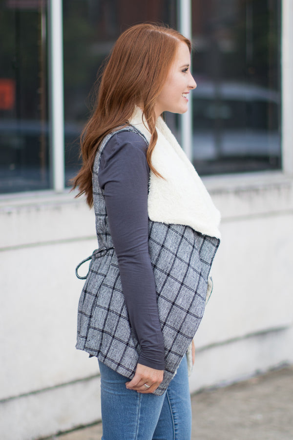 All You Wanted Plaid Vest - Madison + Mallory