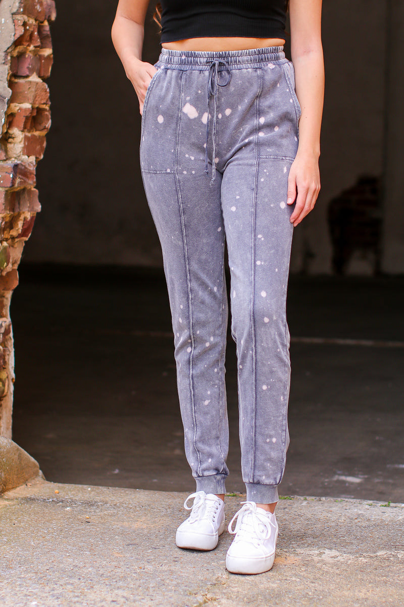 Callback Bleach Splatter Joggers - Madison and Mallory