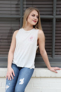 XS / Clay Mushroom Circle Graphic Top - FINAL SALE - Madison and Mallory