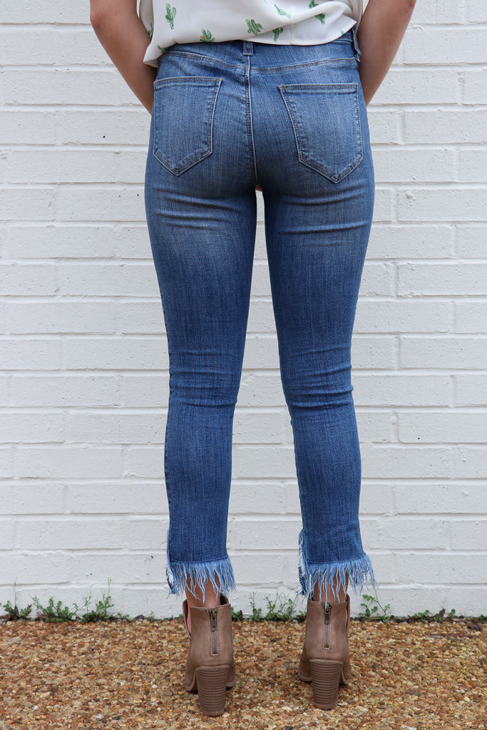 Aria Fringe Skinnies - Madison + Mallory