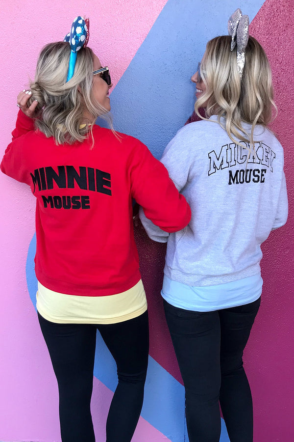 Embroidered Classic Mickey Sweatshirt - Madison + Mallory