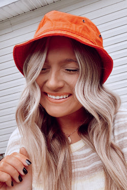 Wrightsville Canvas Bucket Hat - Orange - Madison and Mallory