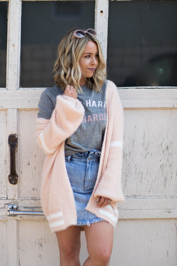 S / Pink Perfect Match Cardigan - Madison + Mallory