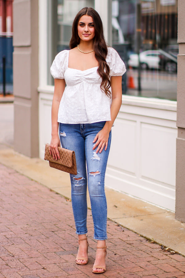 Love Someone High Rise Distressed Skinny Jeans - Madison and Mallory
