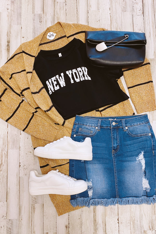 New York Graphic Cropped Top - Madison and Mallory