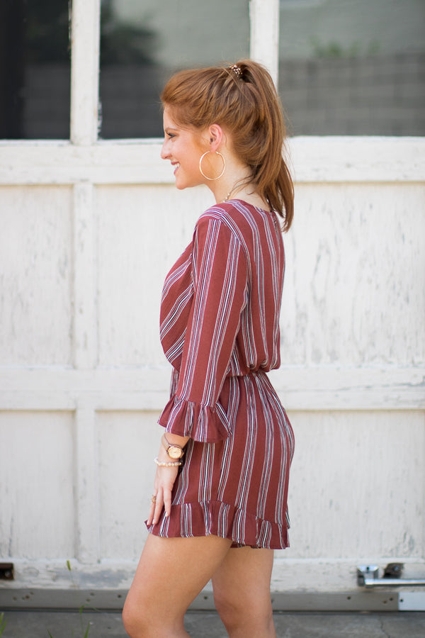 Stacy Striped Romper - Madison + Mallory