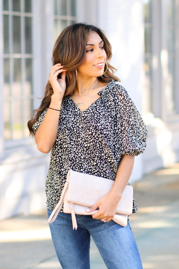 Tight Leash Leopard Print Top - Madison and Mallory