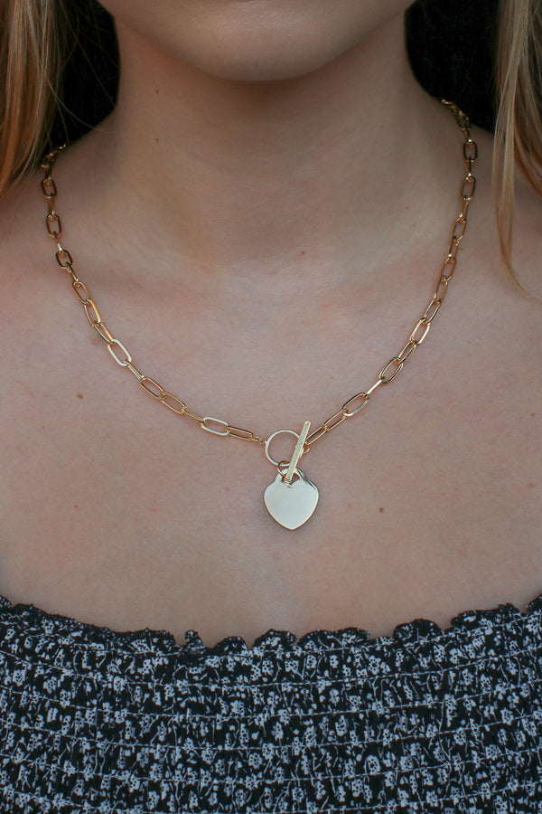 Gold Change of Heart Toggle Necklace - Madison + Mallory