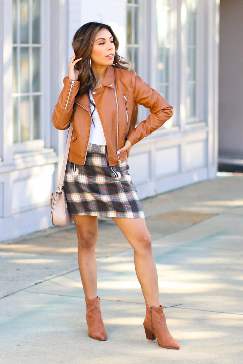 Upstate Plaid Zip Skirt - Madison and Mallory