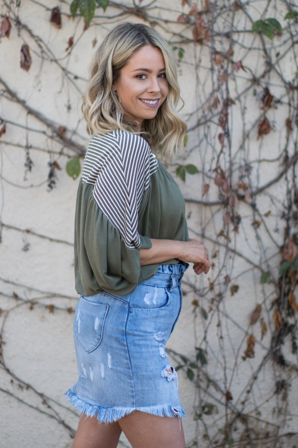 Novalee Striped Top - Madison + Mallory