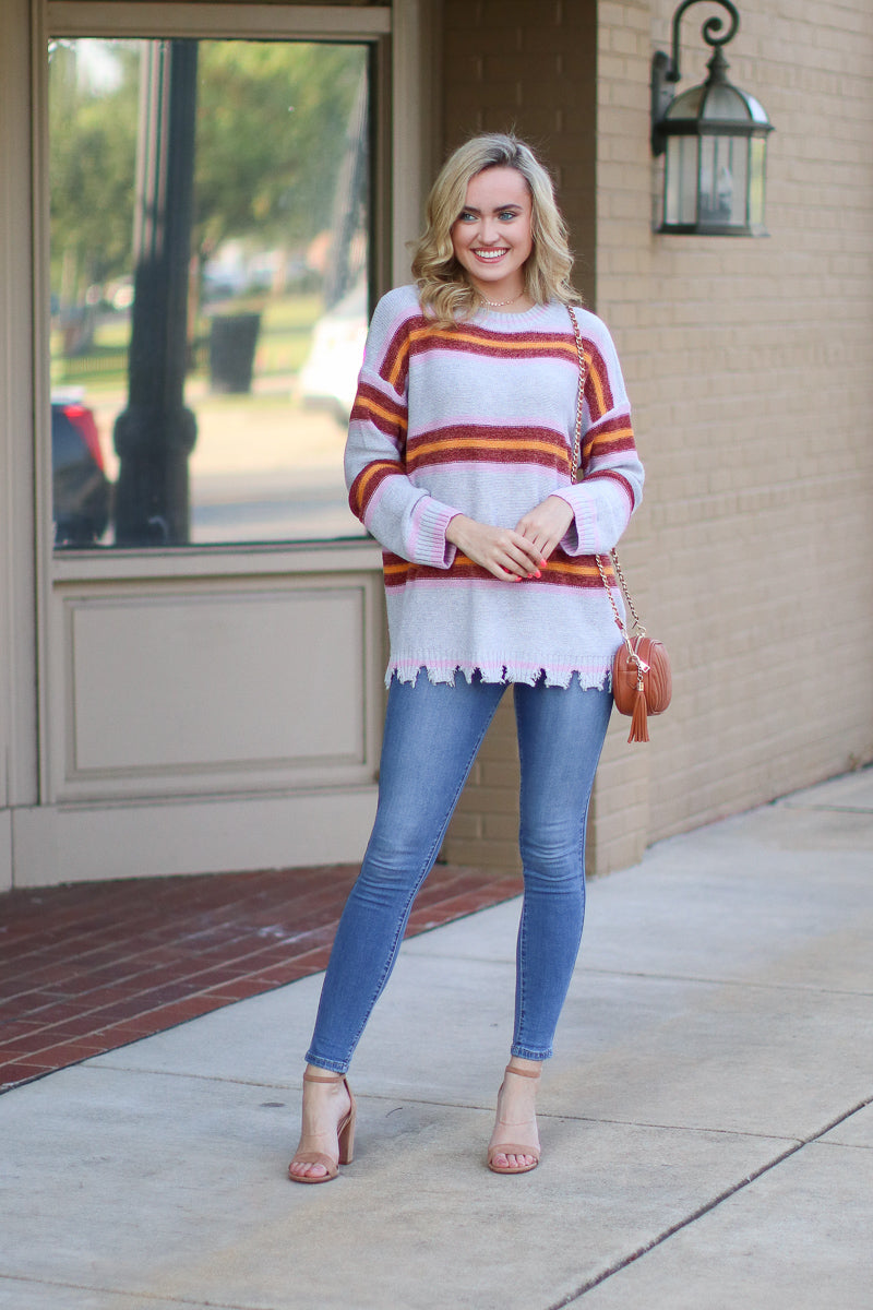 Read Between the Lines Striped Sweater - Madison + Mallory