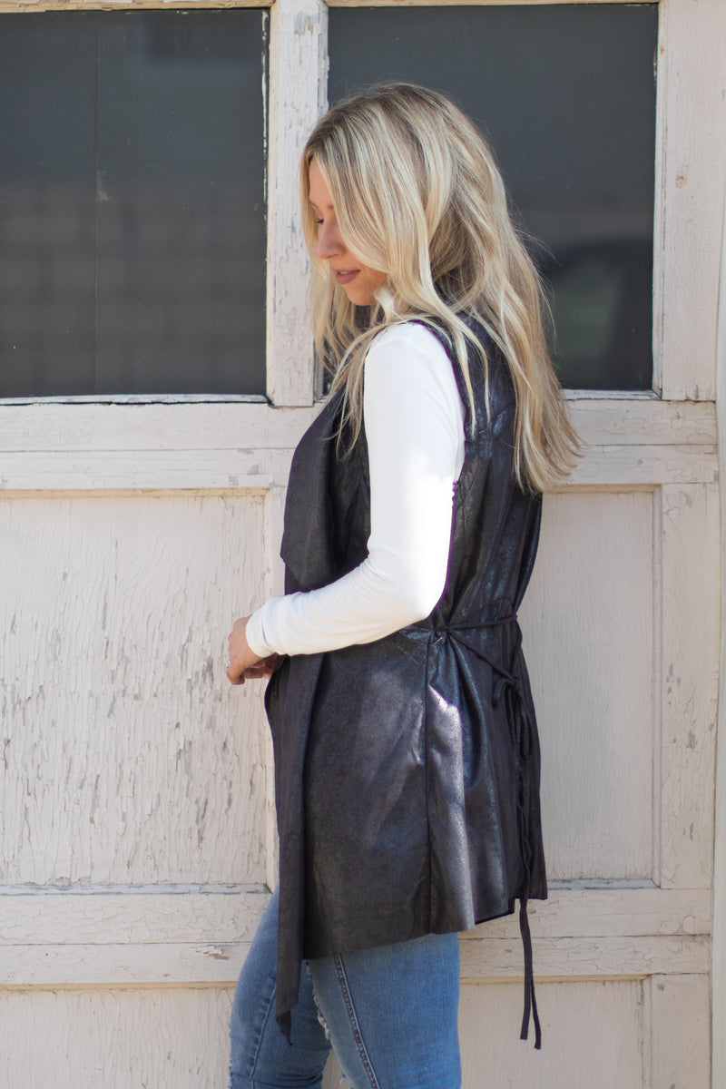 Satin Finish Vest | Curve - Madison + Mallory