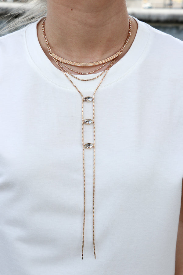 Crystal Drop Collar Necklace - Madison + Mallory