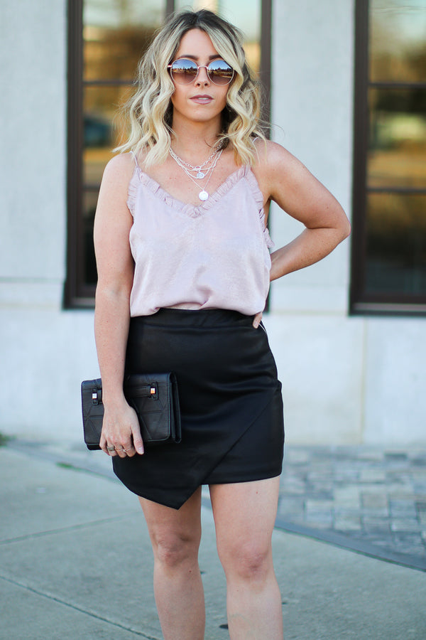 S / Black Make Up Your Mind Faux Leather Skirt - Madison + Mallory