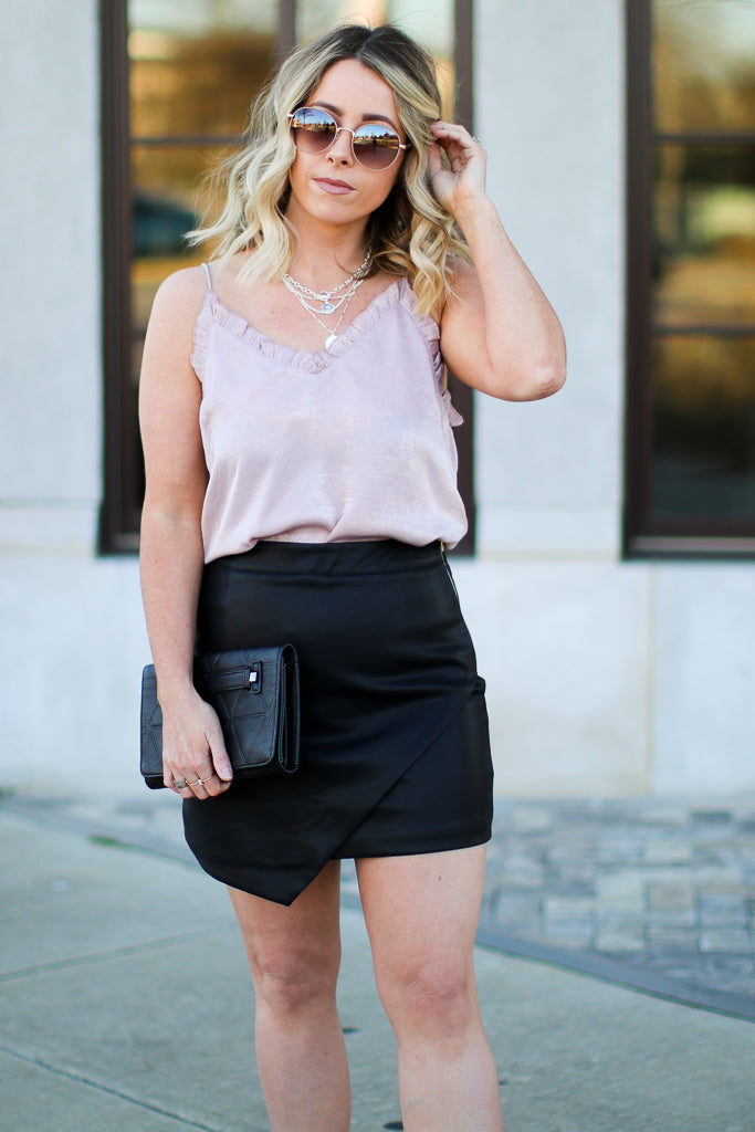 Make Up Your Mind Faux Leather Skirt - FINAL SALE - Madison + Mallory