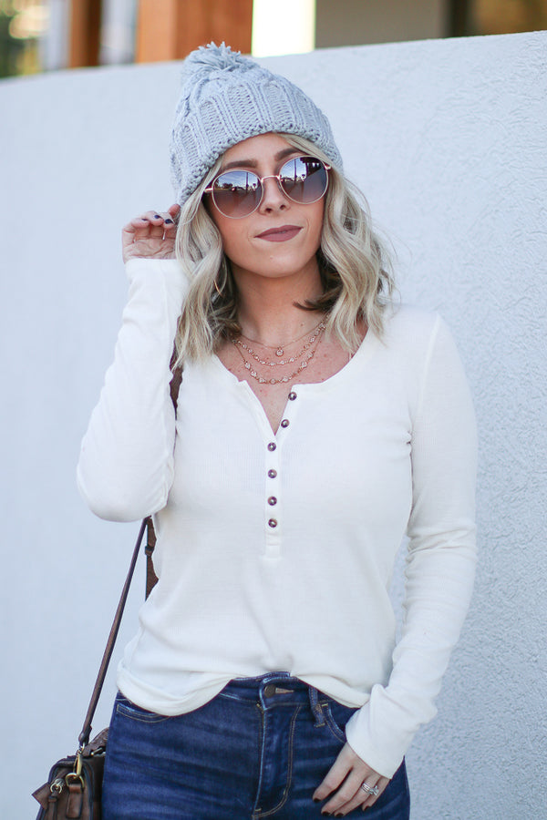 Cozy Times Cable Knit Beanie - Madison + Mallory