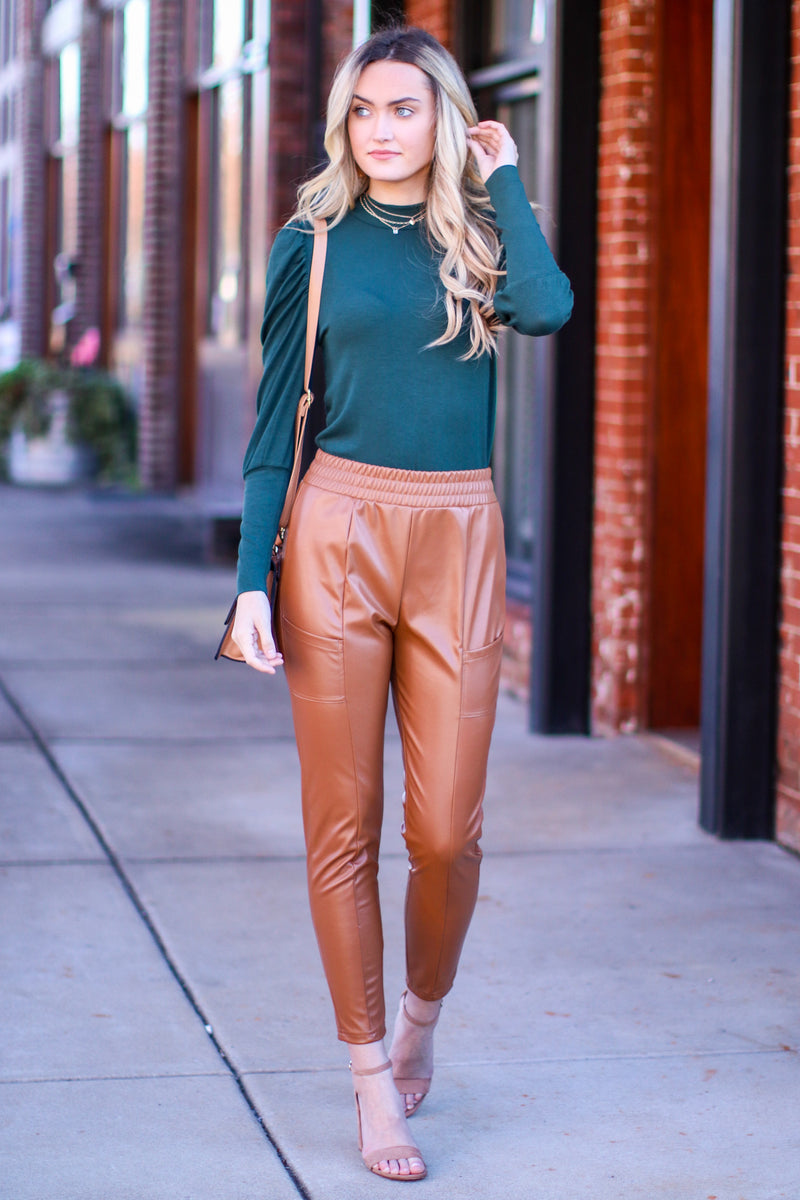 Rule the World Faux Leather Pants - Madison and Mallory