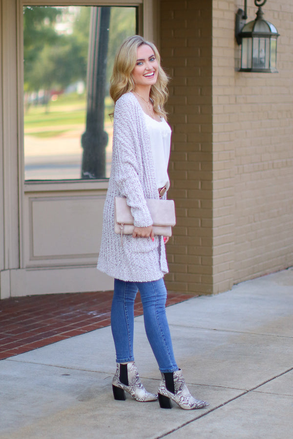 Stay With Me Popcorn Knit Cardigan - FINAL SALE - Madison and Mallory