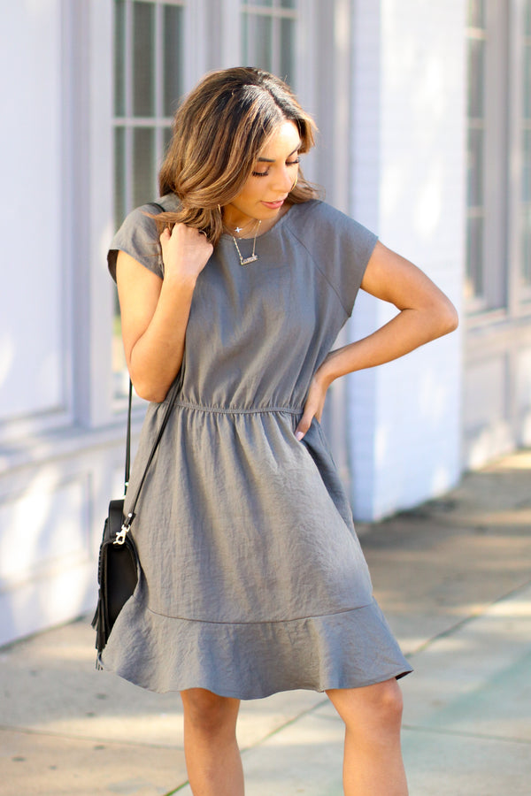 Maylen Ruffle Hem Dress - Madison and Mallory