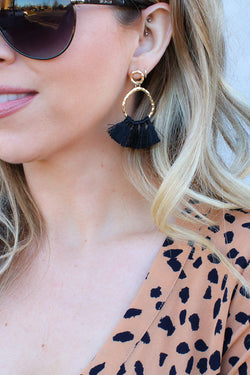 OS / Black In the Details Tassel Earrings + MORE COLORS - Madison + Mallory