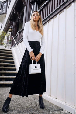 Confessions Velvet Maxi Skirt - Madison and Mallory