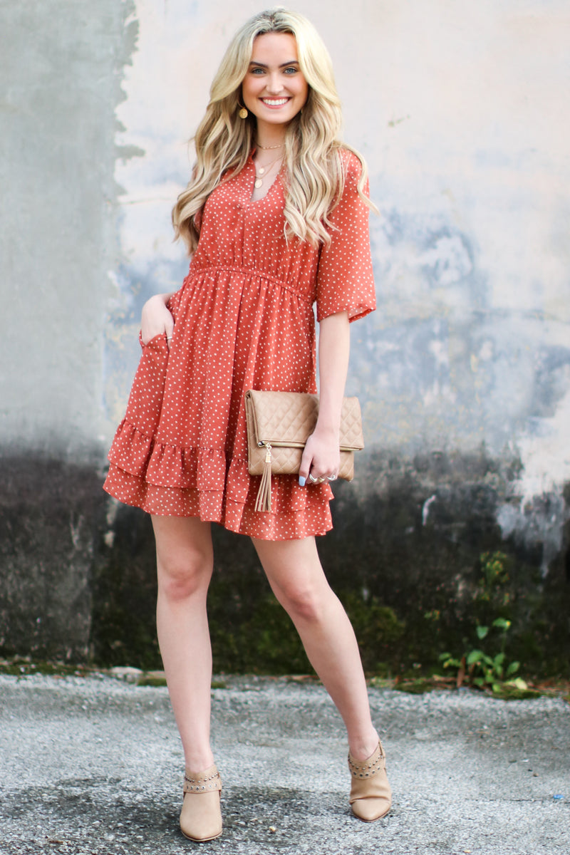 Make the Rules Polka Dot Dress - Madison and Mallory
