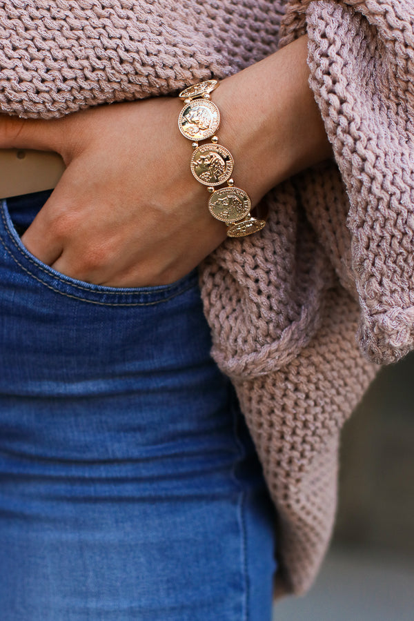 Gold Vasya Coin Bracelet - Madison + Mallory